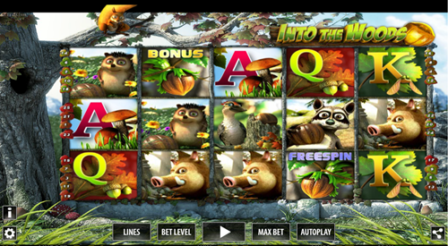 Free into the woods slot game by World Match Games
