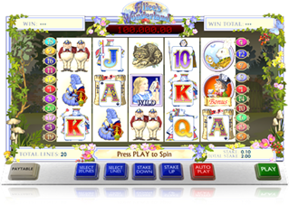 Alices Wonderland online slot casino game by Ash gaming